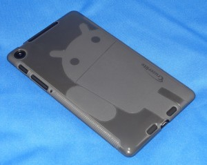 Cruzerlite Androidify A2 TPUケース for Nexus 7 (2013)(スモーク)装着の図